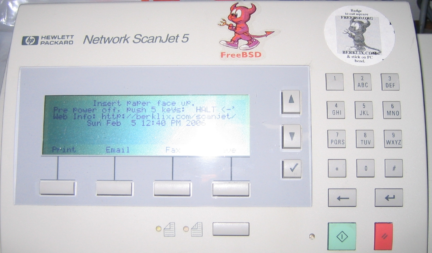 picture of whole HP Network ScanJet 5